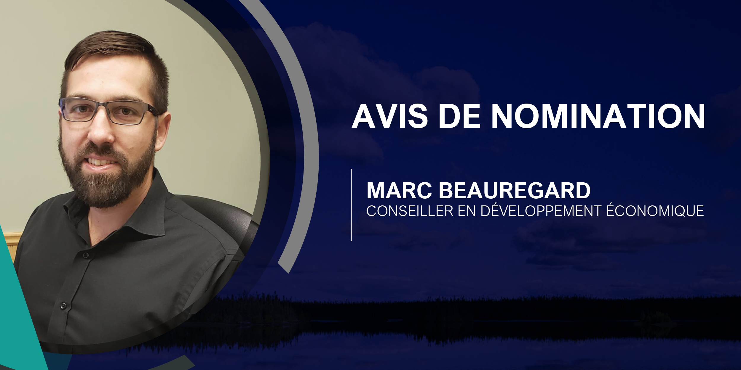 En-tête Avis de nomination Marc Beauregard