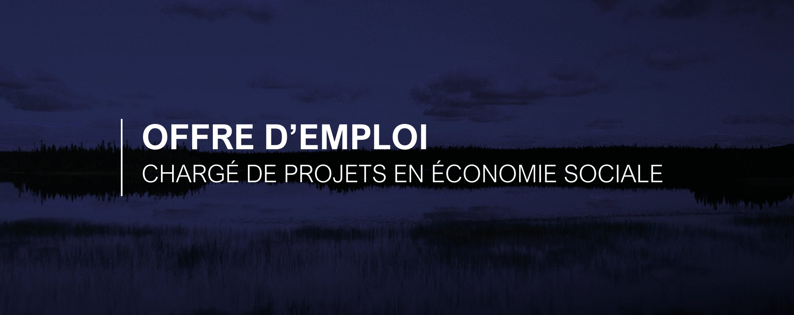 OFFRE D'EMPLOI | Chargé de projets en économie sociale